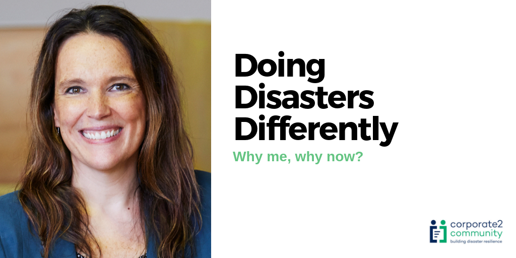 Doing Disasters Differently – why me, why now?