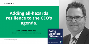 All hazards resilience podcast header image