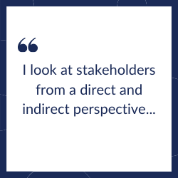 Direct and indirect stakeholders